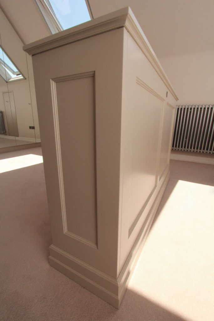 Side view of beaded shaker tv lift, Winchmore Hill N21