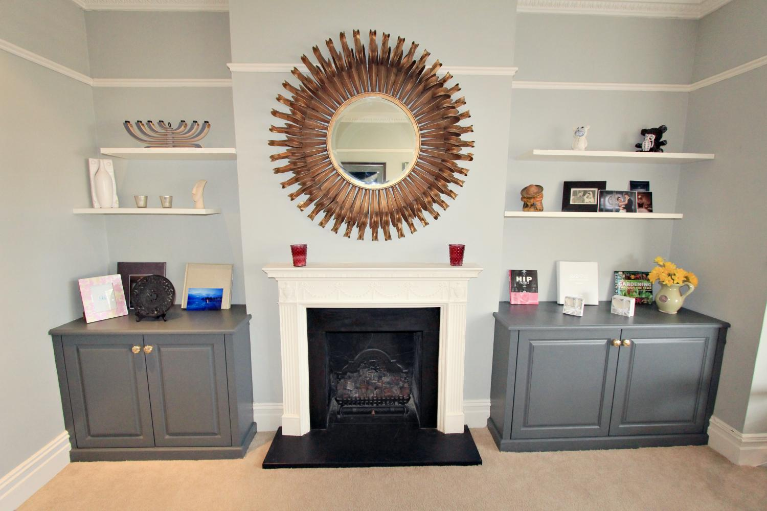 Traditional bespoke fitted alcove furniture, Winchmore Hill, N21