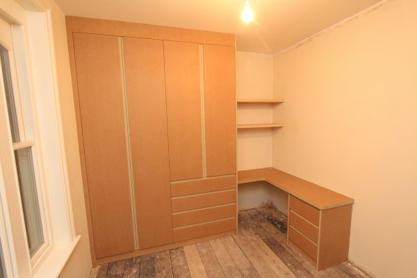 Fitted MDF bedroom furniture and wardrobes