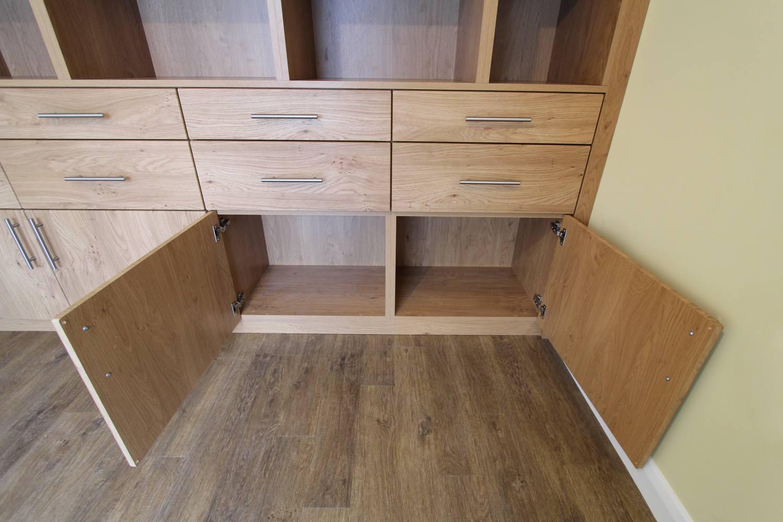 Bespoke fitted oak cupboards, Winchmore Hill, N21