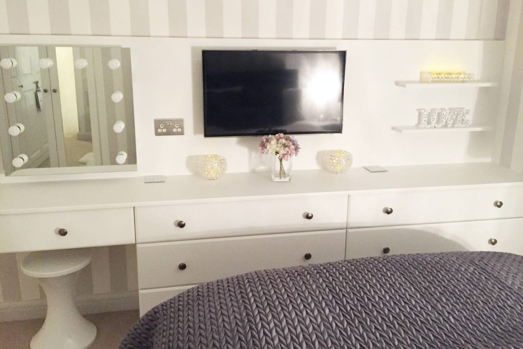 Finished white fitted dresser, Hertfordshire