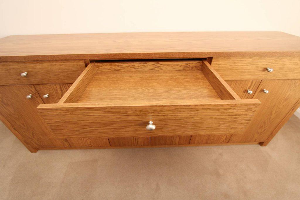 Handmade oak veneer drawer, Winchmore Hill N21