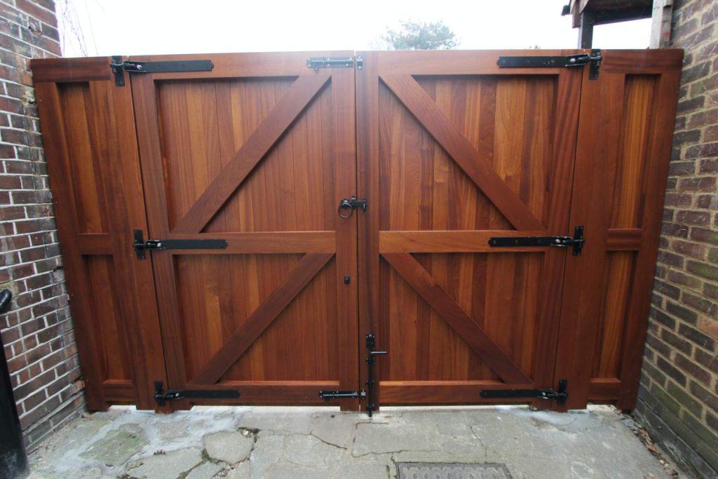 Back of Sapele gates, Winchmore Hill N21
