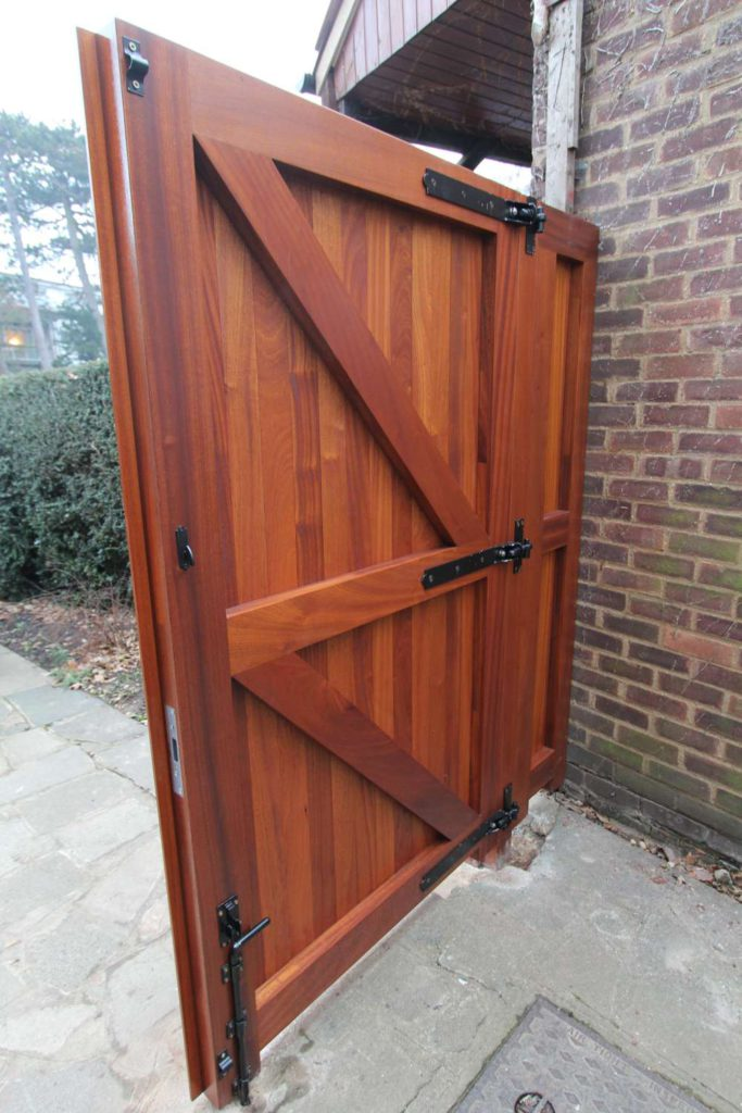 Rear view of braced gate and ironmongery, Winchmore Hill N21