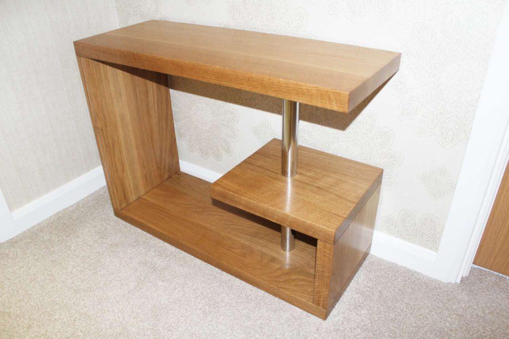 Contemporary bespoke solid oak table
