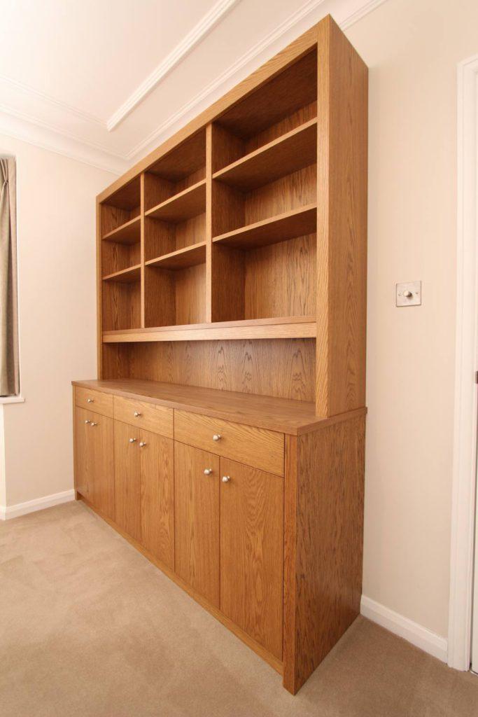 Modern veneered oak dresser, Winchmore Hill N21