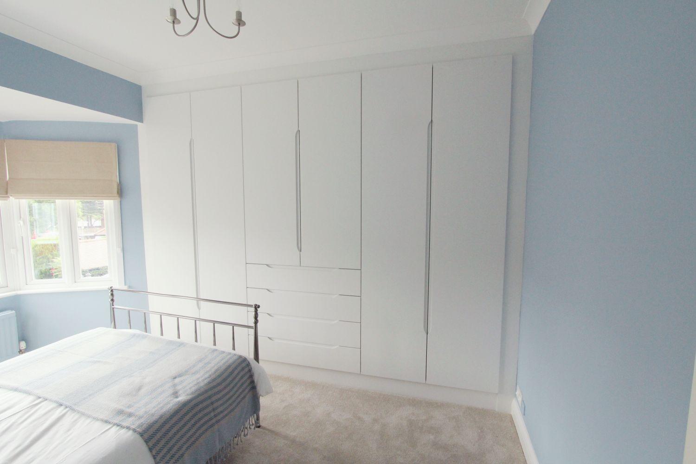 Fully Fitted White Semi Matt Built In Wardrobe, Palmers Green, N13