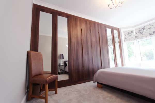 Made to Measure Fitted Walnut Wardrobe, Palmers Green, N13