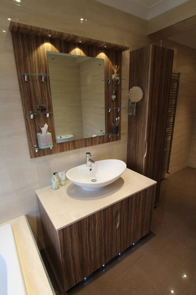Contemporary bespoke fitted bathroom furniture, Palmers Green, N13