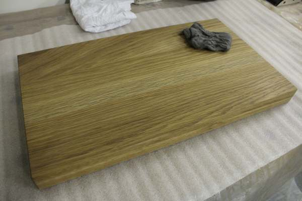 Hand rubbed oil finish
