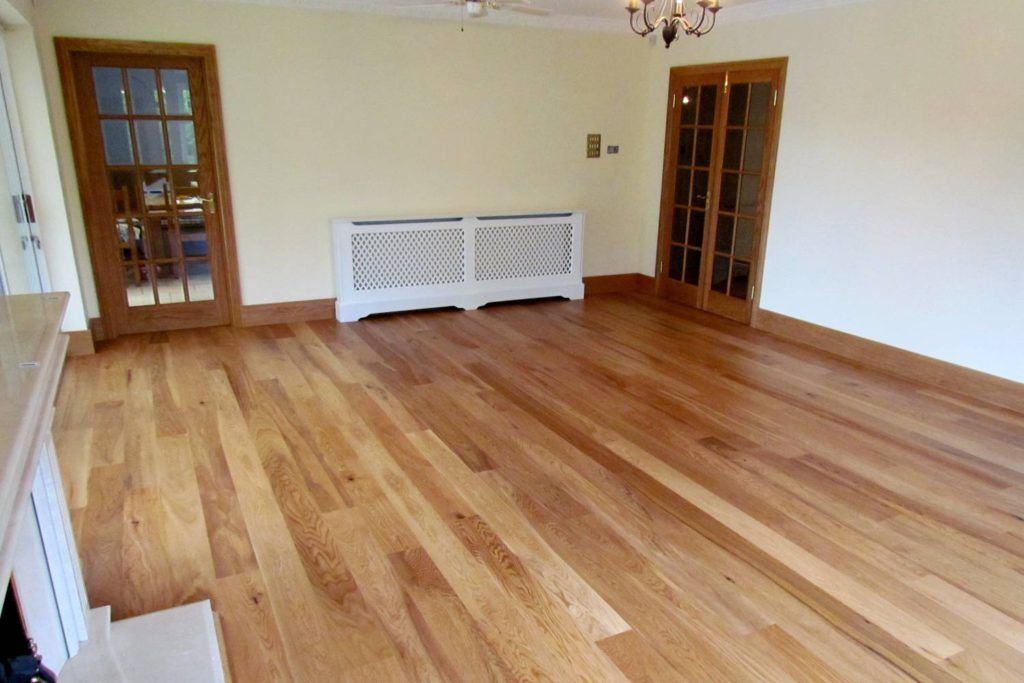 Fitted flooring, doors, skirtings, radiator cover, London