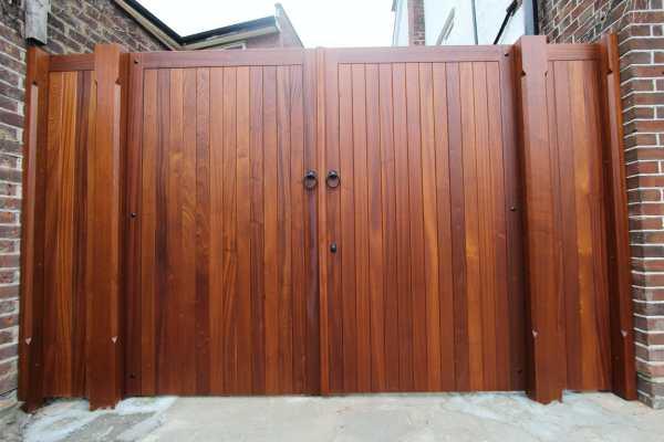 Bespoke fitted hardwood gates