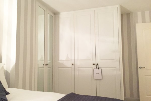 Bespoke white fitted wardrobes