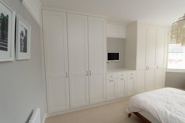 White bespoke fitted wardrobe, Enfield, EN2