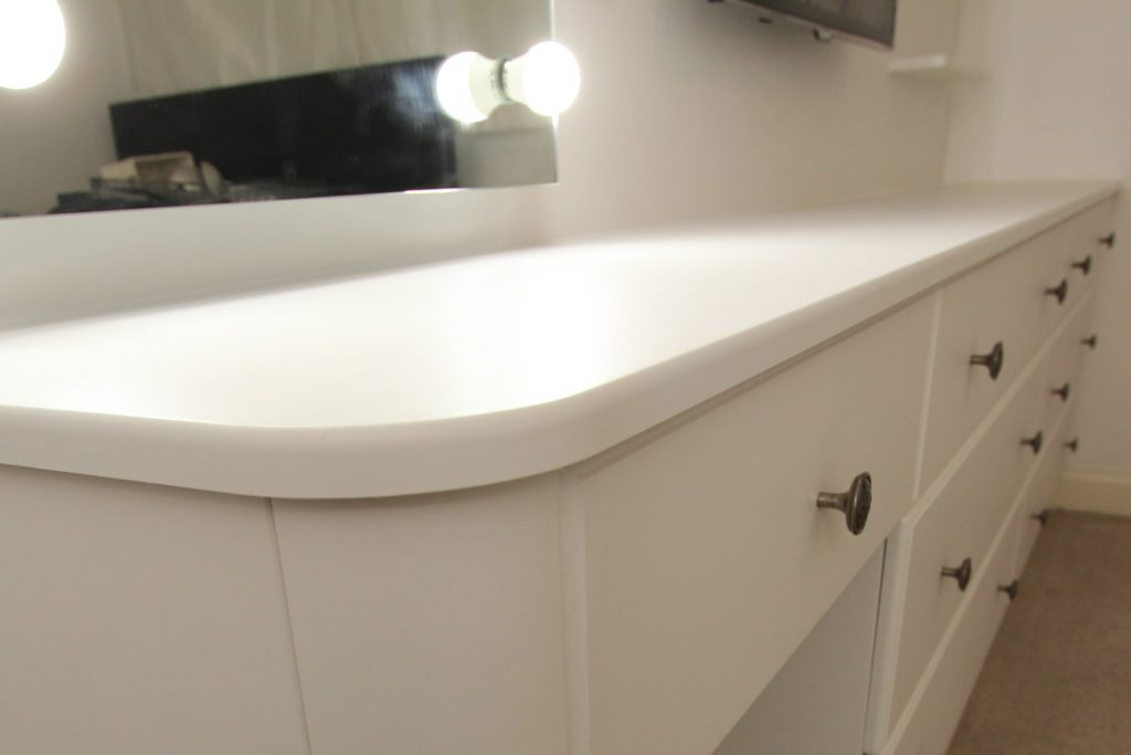Fitted white dresser and drawers, Hertfordshire
