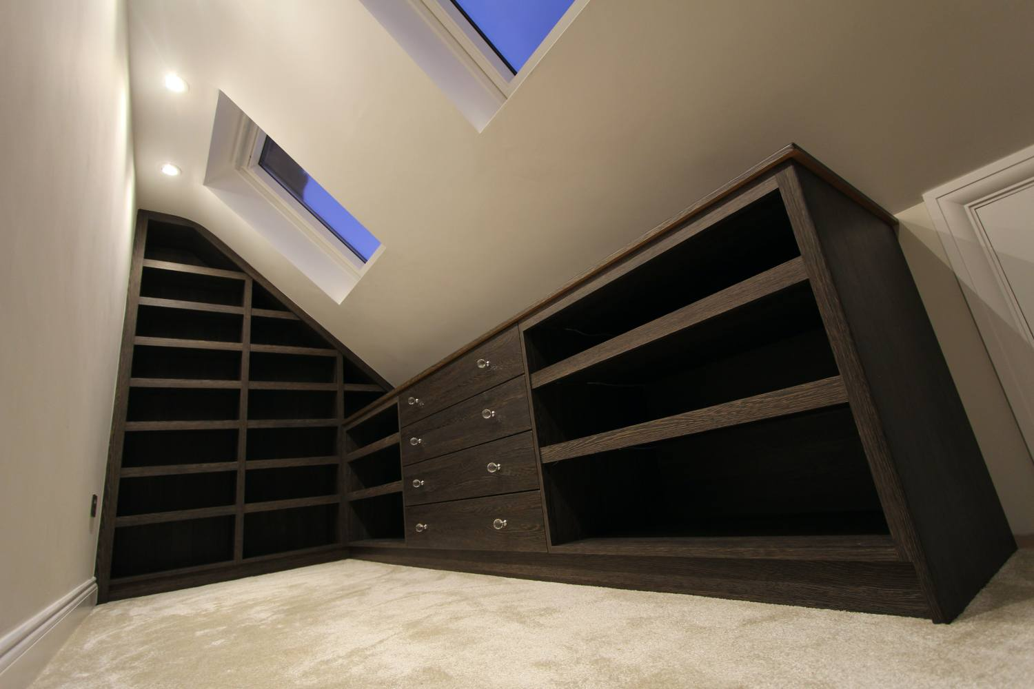 Fitted shoe shelving and drawers without LEDs, Winchmore Hill N21