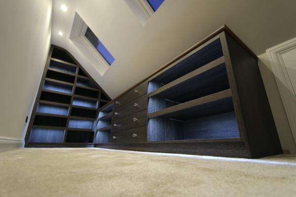 Bespoke loft fitted wardrobe