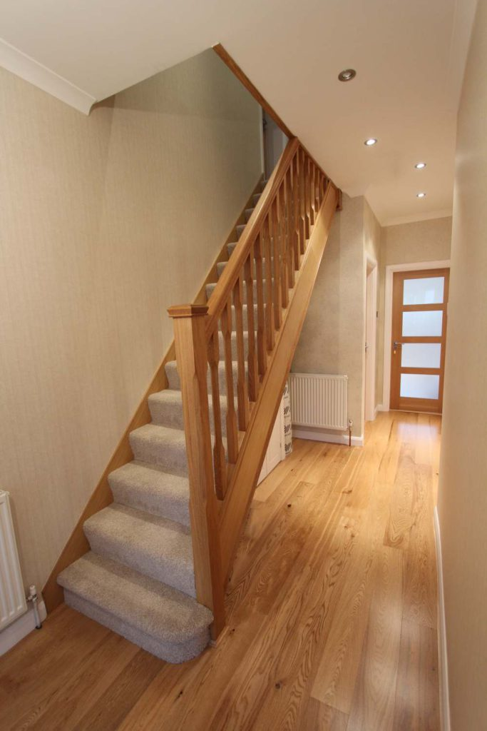 Refaced oak staircase, Palmers Green, N13