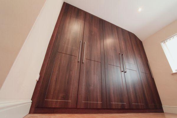 Shaker style walnut wardrobe, Loughton, Essex, IG10