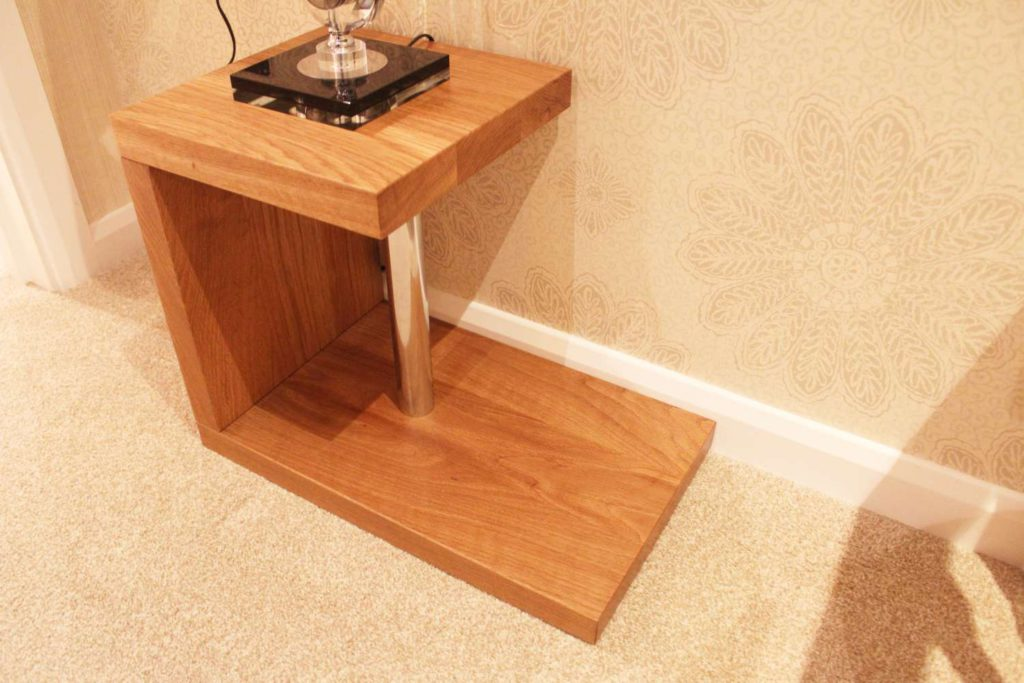 Small modern solid oak table