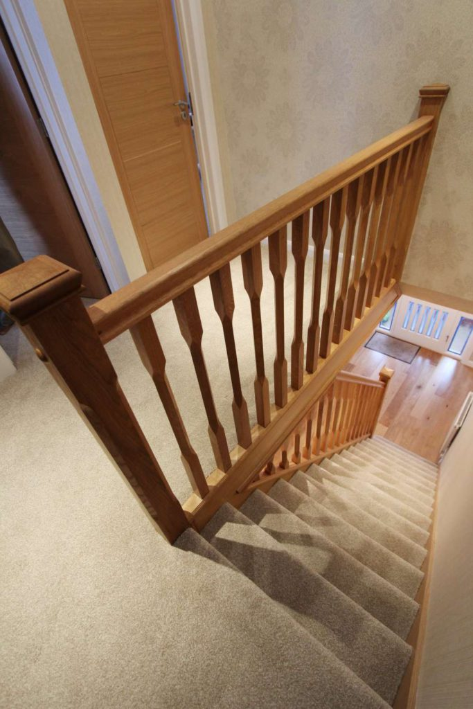 Refaced oak staircase and solid oak balustrading, Palmers Green, N13