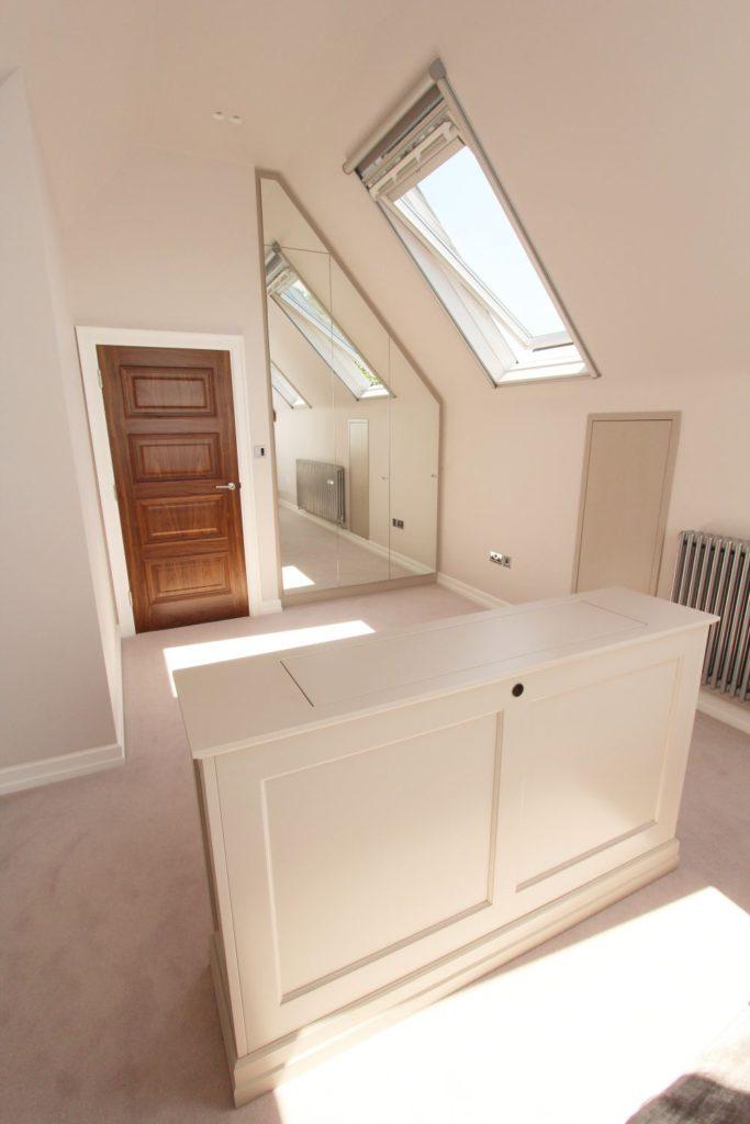 Loft mirrored wardrobe and matching tv lift, Sevenoaks, Kent