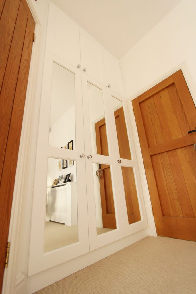 Beaded shaker wardrobe with mirrored doors, Billericay CM11