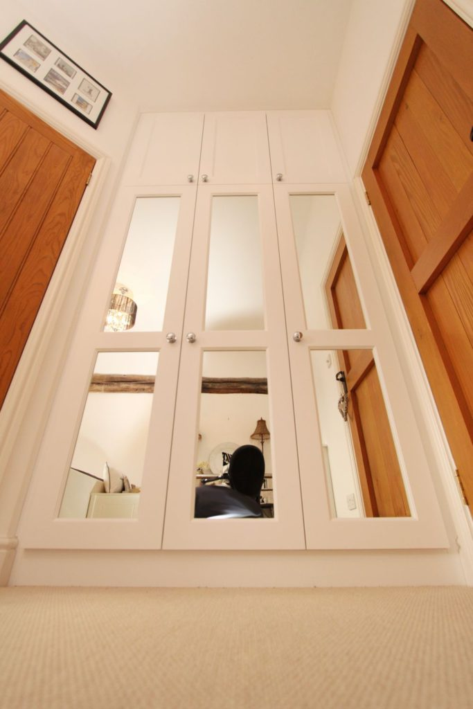Front view of mirrored wardrobe, Billericay CM11