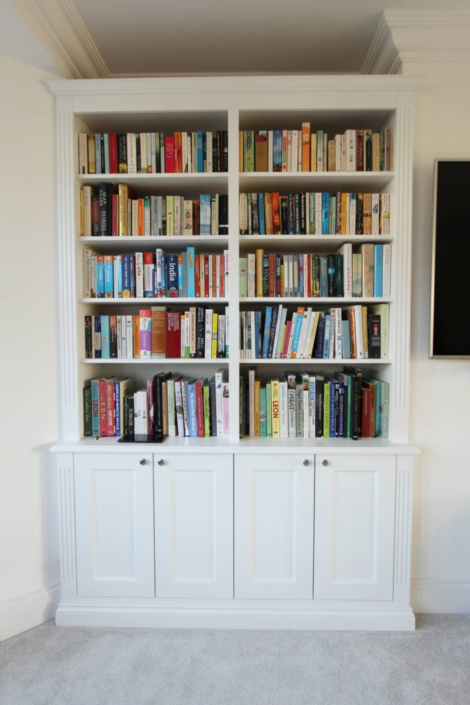 White shaker alcove shelving unit, Muswell Hill N10