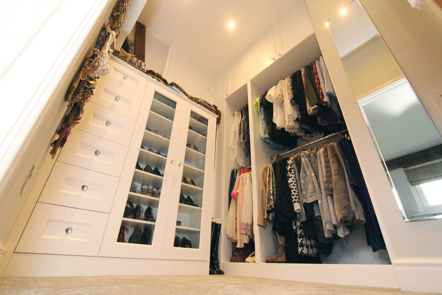 Fitted dressing room wardrobe and shoe display, Billericay CM11