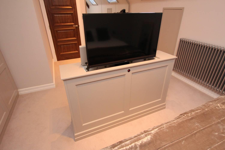 Bespoke spray lacquered tv lift, Enfield EN5